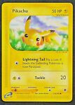Pikachu Pokemon Card - Non HOLO - Expedition Base Set 124/165 - Near Mint