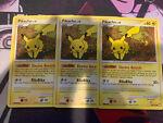 x3 Pikachu 94/123 Mysterious Treasures 2007 Pokemon TCG Card NM-LP