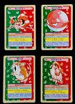 Kingler Voltorb Pidgeot  Raticate Topsun Pokemon Cards 1995 Green (1548a)