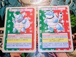 1995 Topsun Blastoise 009 & Wartortle 008 Green Back Pokemon Card