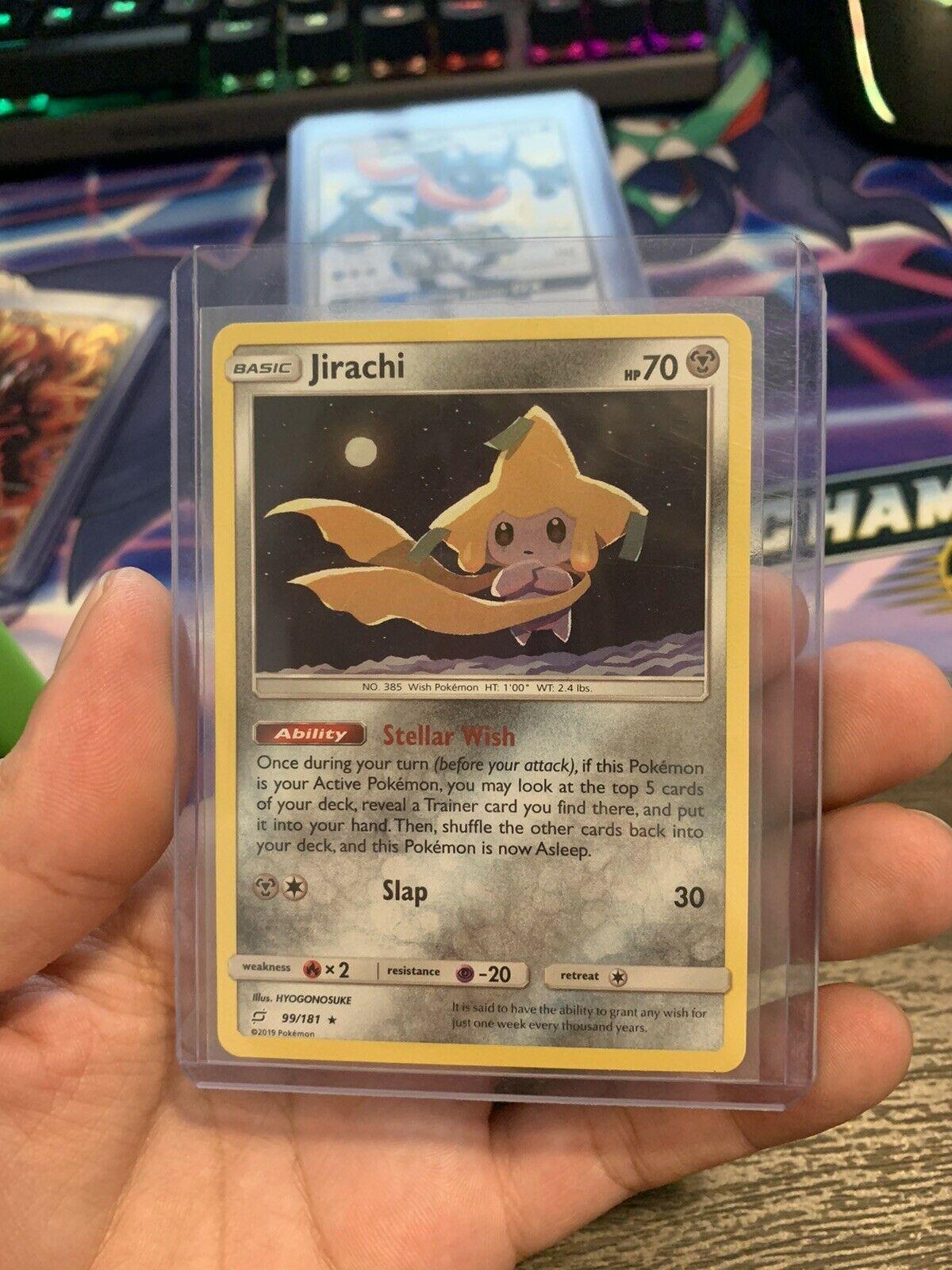 Jirachi 99/181 Pokemon Trading Card Game Sun Moon Team Up Holo Rare Near Mint