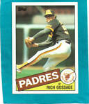 RICH GOSSAGE # 90 - 1985 Topps Baseball Card NR//MT Condition