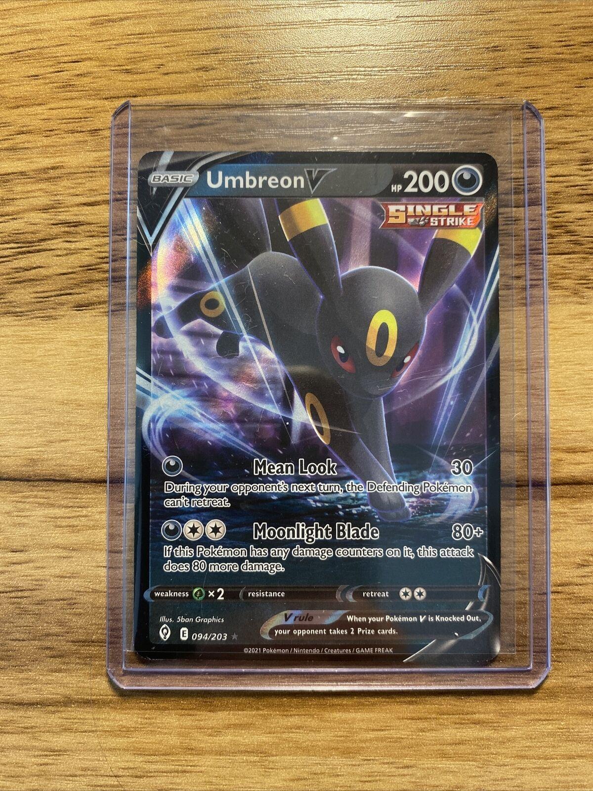 Umbreon V 094/203 Pokemon TCG Evolving Skies - NM