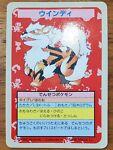 TOPSUN Arcanine No Number Error Pokemon Blue Back 1995 Nintendo Japanese