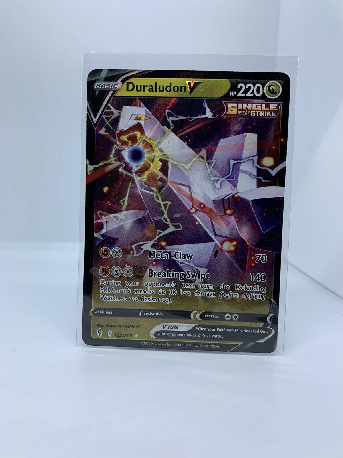 Pokemon TCG Duraludon V (Ultra Rare) Near Mint Evolving Skies 122/203