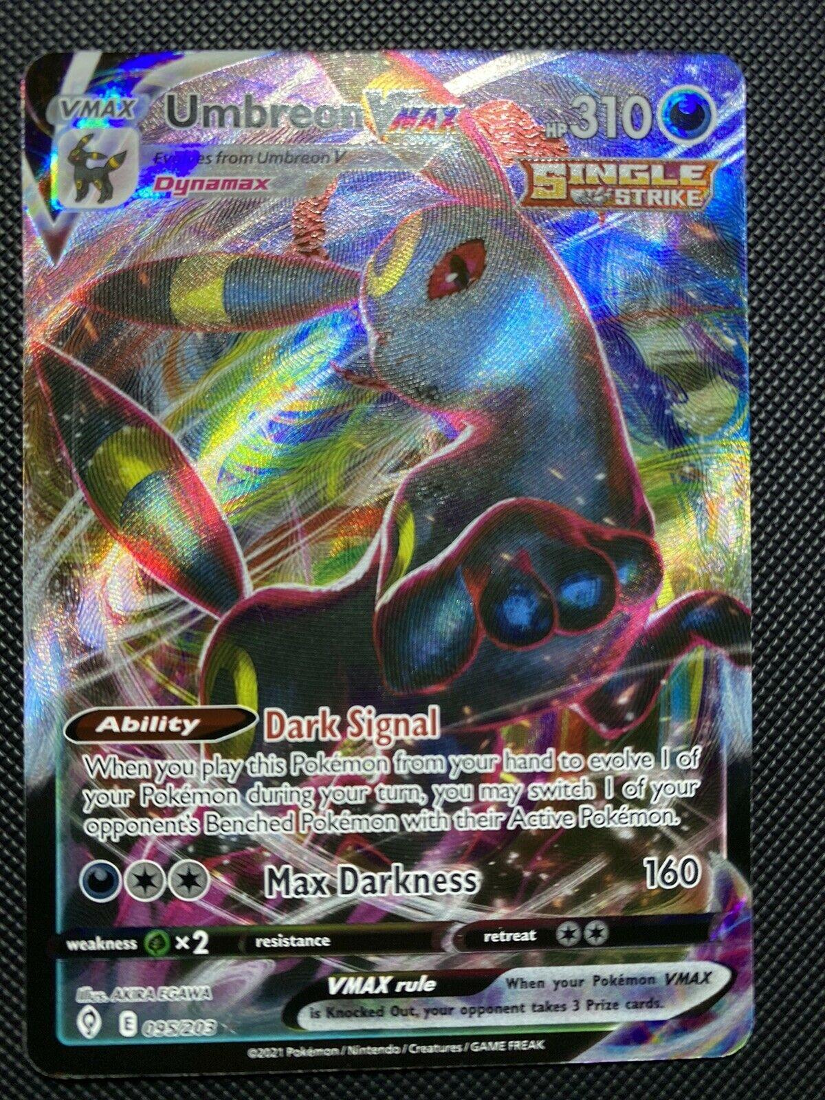 Pokemon Umbreon VMAX 095/203 -Evolving Skies Ultra Rare Full Art NM/M