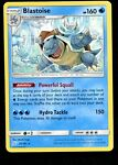 Pokemon TCG Card Sun & Moon Team Up 25/181 Non Holo Rare Blastoise Evolution NM