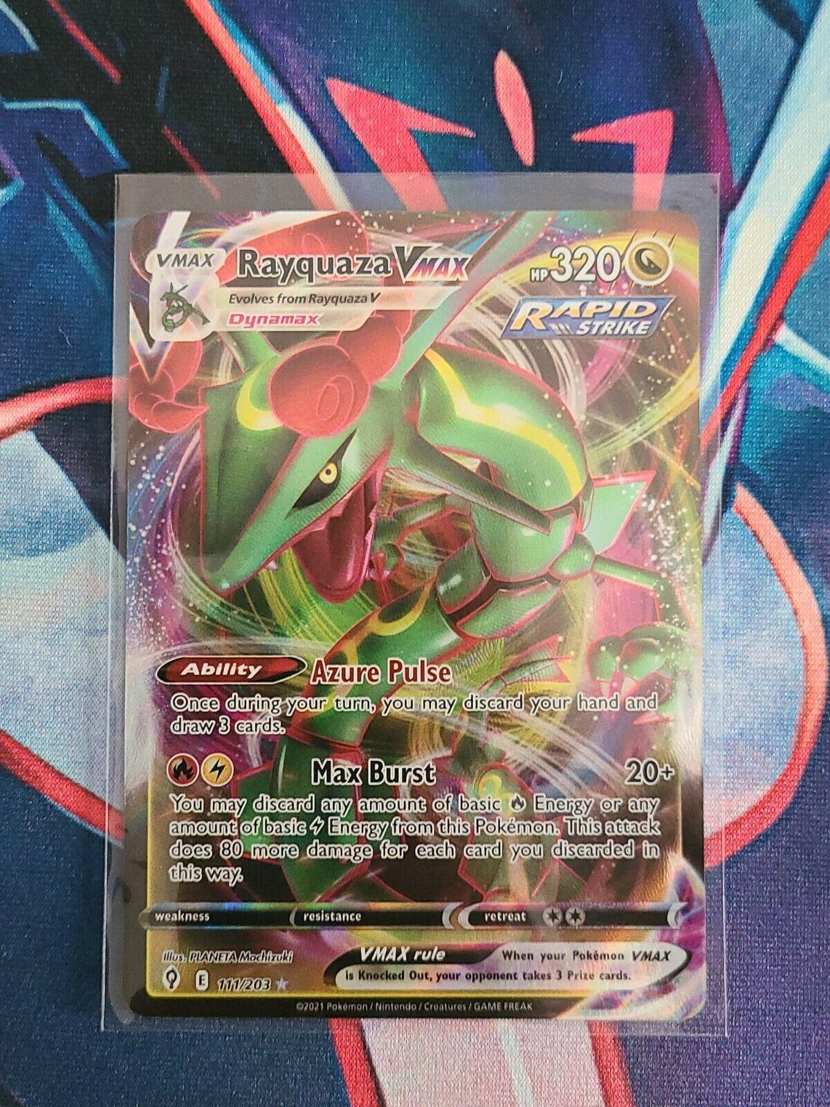 Rayquaza VMAX 111/203 Rare Full Art Evolving Skies Pokemon TCG NM/M