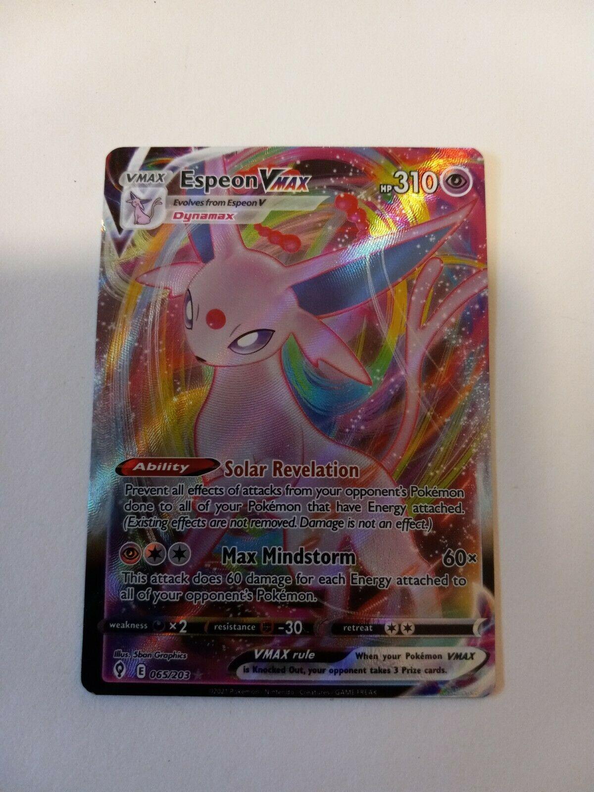 Espeon Vmax 065/203 Evolving Skies NM Full Art Ultra Rare Pokemon Card
