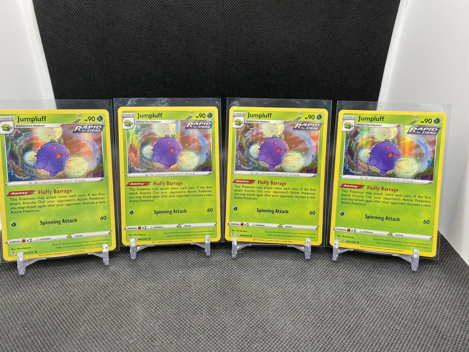 4X Jumpluff 004/203 Evolving Skies - NM Holo Rare Pokemon TCG Playset