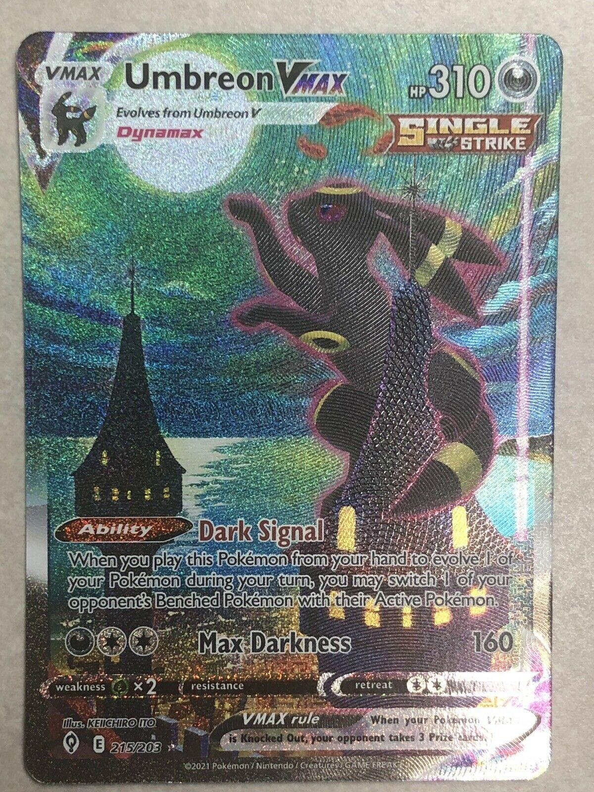Pokemon Umbreon VMAX Alternate Art Evolving Skies 215/203