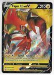 Pokemon Sword & Shield Battle Styles Tapu Koko V Ultra Rare Card 050/163