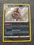 Shiny Galarian Weezing SV077/SV122 Holo Rare Pokémon Shining Fates (B)