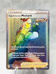 Rainbow Holo Mustard Single Strike Style Pokémon Card 177/163 Battle Styles M-NM