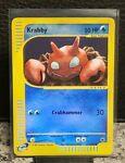Krabby #115/165 - Expedition - Reverse Holo Pokemon Card - NM Near Mint