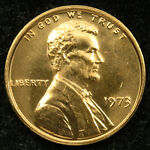 1973 Uncirculated Lincoln Memorial Cent Penny BU (C01)