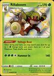 Rillaboom SV006/SV122 Shiny Vault Pokémon Card TCG Shining Fates Light Play