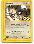 121/165   Meowth   Expedition   Pokemon Card   Light Played