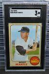 1968 Topps Mickey Mantle #280 SGC 3 Very Good Yankees B223