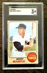 1968 Topps Mickey Mantle VG 3. SGC #280 Baseball HOF