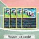 Pokemon Sword & Shield Galarian Zigzagoon Playset of 4 Cards 117/202