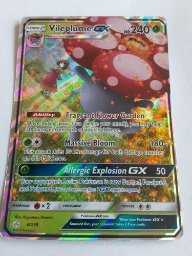 Vileplume GX ULTRA RARE 4//236 Pokemon Sun and Moon Cosmic Eclipse Set HOLO NM