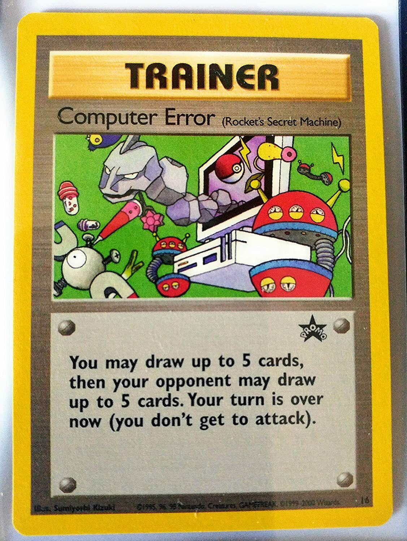 Pokemon COMPUTER ERROR Rare Black Star Promo Card #16 2000 NM//M