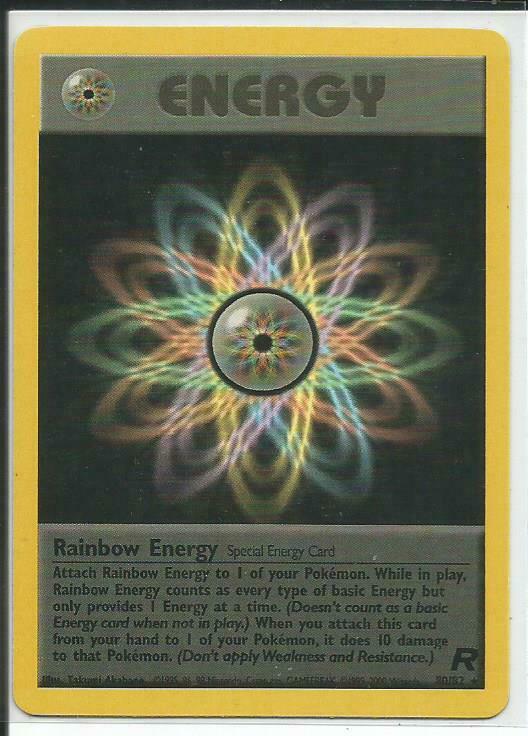 Rainbow Energy Rare FAST /& FREE P/&P! Team Rocket Set Holo Pokemon Card 17//82